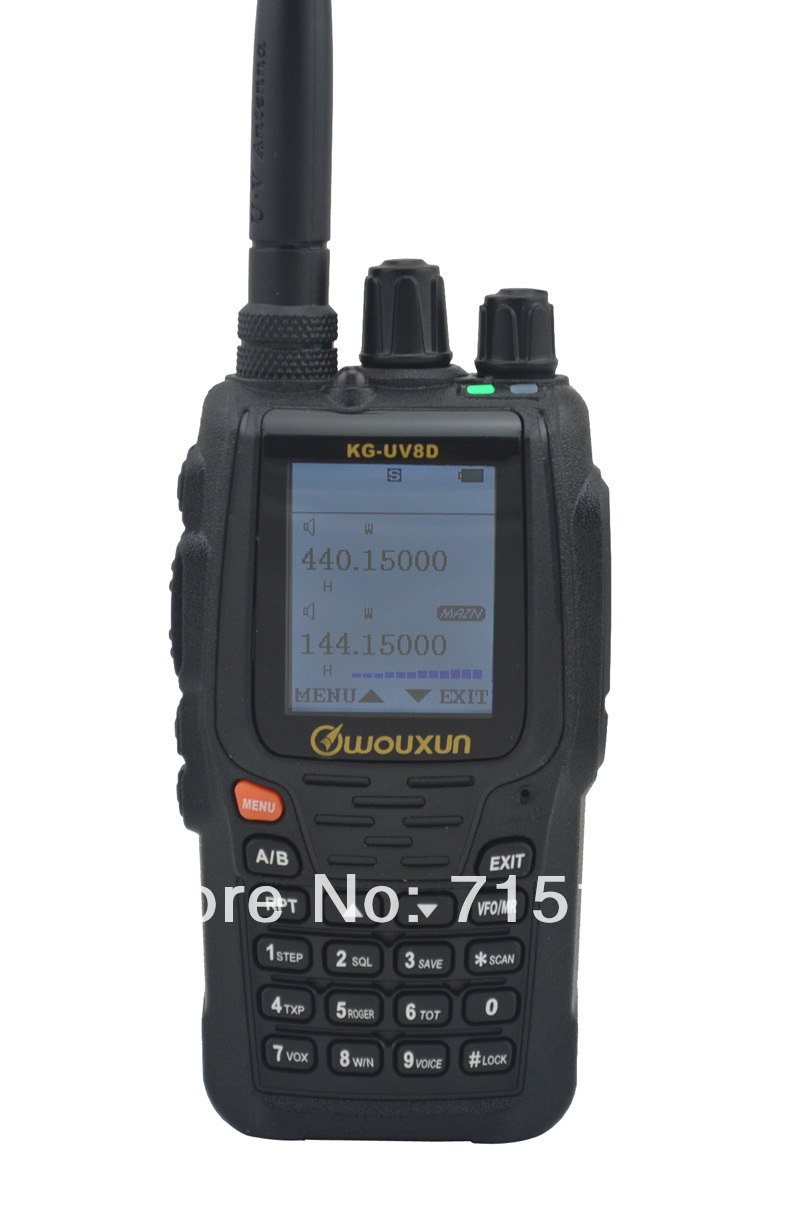 Ny 2015 WOUXUN KG-UV8D VHF & UHF Dual Band To-vejs Radio Original Wouxun KG UV8D 5W Portable Walkie Talkie