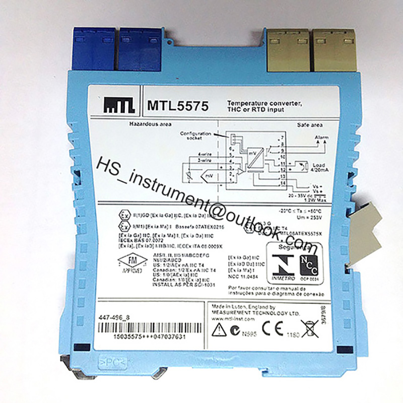 MTL5575 MTL MTL5575 MEASUREMENT TECHNOLOGY LTD MTL5575 NEW&ORIGINAL nowley 8 5575 0 8