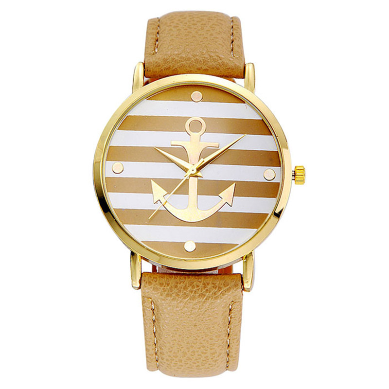 2017 Newly Designed Relogio Feminino Clock 5 Colors New Arrival Fashion Leather Strap Anchor Watches Women Dress Watches Gift