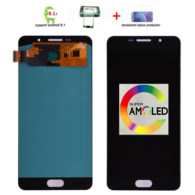 Original Super Amoled lcd Para Samsung Galaxy A7 2016 A710 A710F A710M A710Y A7100 LCD Screen Display Toque Digitador Assembléia