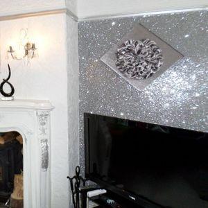 Image 1 - Объемные блестящие обои, 3 класса, украшение для дома, высокое качество, сверкающие обои, 30 м
