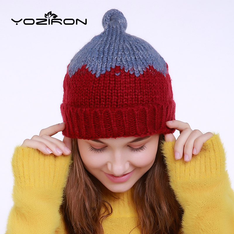 New Women Winter Hats With Braid 2 Colors Beanies With Little Tail Casual Adults Solid Wool Skullies Cap
