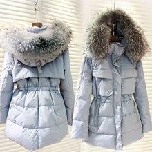 Winter Coat 2016 Women Fur Collar Long Slim Down Jacket Winter Student Cotton Coats Solid Thick Warm Jacket Plus Size Clothing