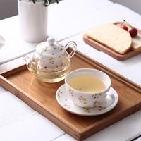 Heat Resistant Glass Ceramic Bone China Tea Pot with Filter Gongfu Tea Set Black Tea Flower Teapot with cup