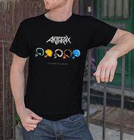 T Shirt Men 2017 Fashion High Quality Anthrax Men Black T Shirt Rock Band Fan Tee