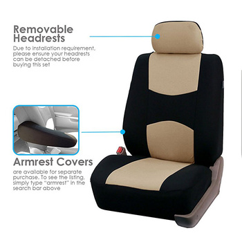 Full Set Car Seat Covers Universal Fit Car Seat Protectors High Quality Auto Car Interior Accessories Beige For Lada Largus 1