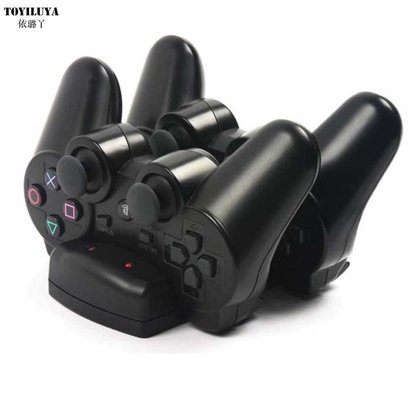 1 pcs USB Powered Dual Charging Dock Chargeur pour Sony pour PlayStation 3 pour PS3 Move Navigation Controller et Nouveau arrivée