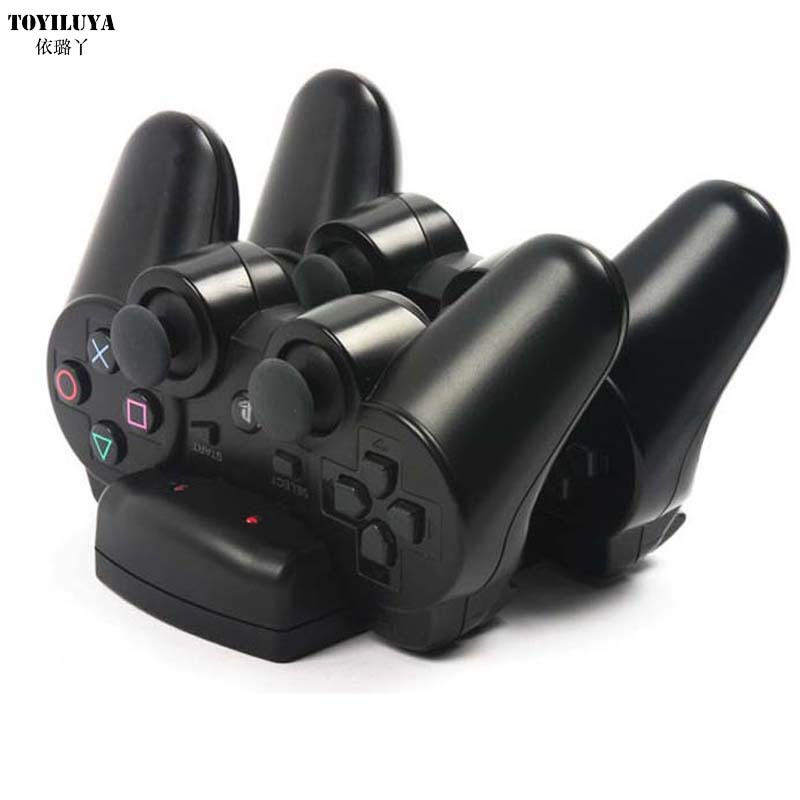 1pcs USB Powered Dual Charging Dock Charger for Sony for PlayStation 3 for PS3 Move Navigation and Controller New Arrival