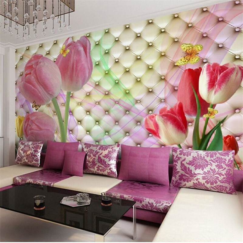 Custom photo wallpaper large mural 3d stereo romantic for Custom mural wallpaper uk