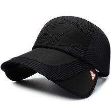 794352927 الصيف شبكة قبعة بيسبول مع تمتد قناع المطرزة حرف شعار المضادة للأشعة فوق  البنفسجية قبعة سائق الشاحنة واقية من الشمس التجفيف السري.
