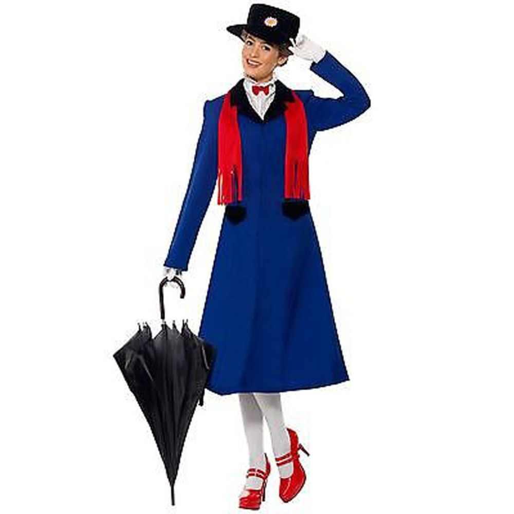Mary Poppins Cosplay Kostüm Ceket Elbise Yetişkin Cadılar Bayramı Kostüm Cosplay Çok Stilleri Seçtiğiniz Için