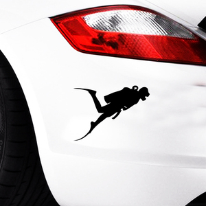 HotMeiNi 13x10 см наклейка для дайвинга автомобиля ныряльщик костюм для ныряния лодка, автомобиль, прицеп, грузовик, бак черный/серебристый