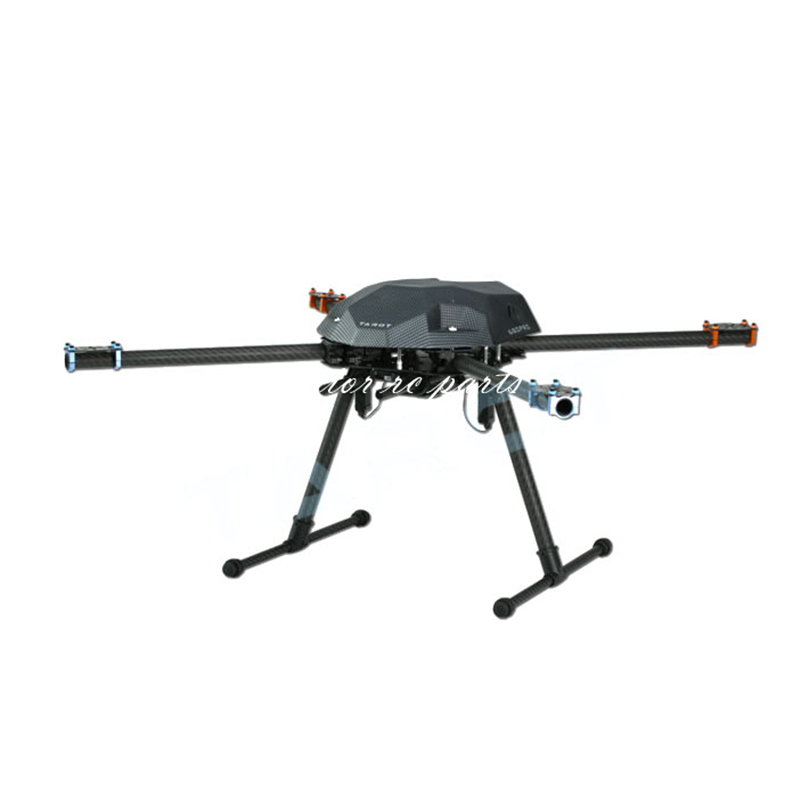 Tarot XS690 TL69A01 Sport Quadcopter with TL69A02 Metal Electric Retractable Landing Gear Skid and TL8X002 Controller f/ FPV