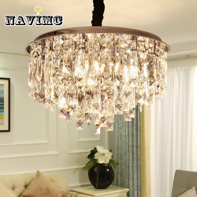 Simple modern crystal chandelier for dining room restaurant pendant simple modern crystal chandelier for dining room restaurant pendant lamp creative bedroom lamp study girls room aloadofball Choice Image