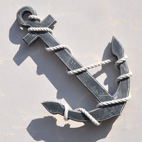 Mediterranean style wooden wall decorative ornaments on the wall mural Home Furnishing anchor anchor CM10