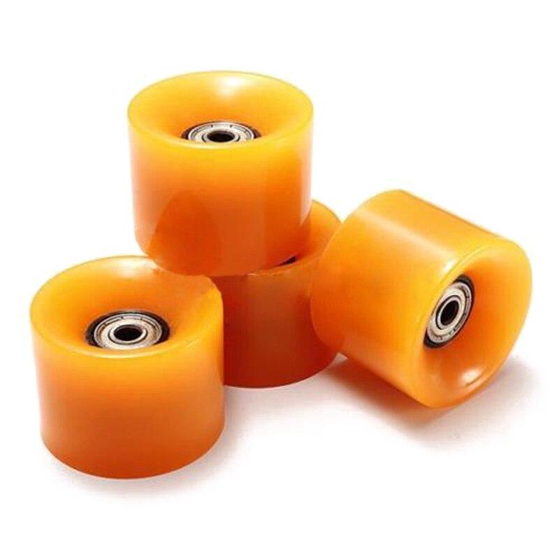 Prix pour Ensemble De 4 Planche À Roulettes Roues 6 cm Diamètre et 4.5 cm Largeur Pour Penny orange
