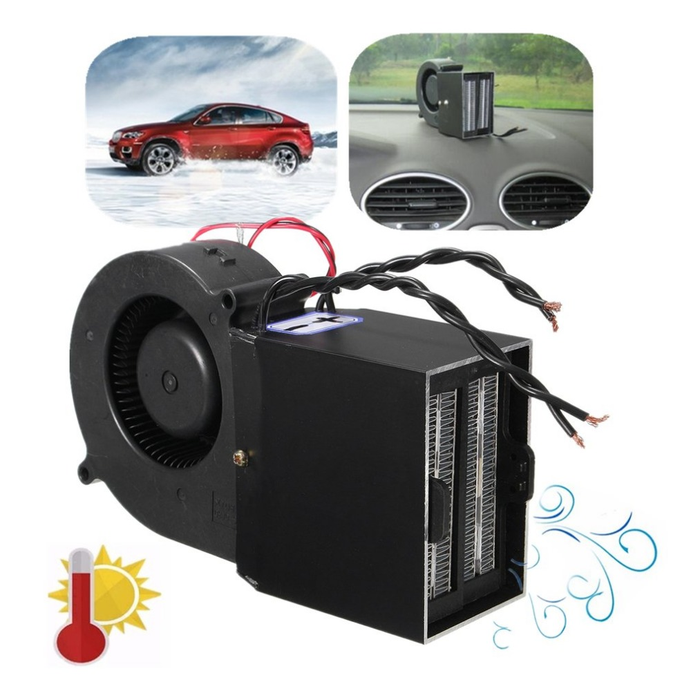DC12V PTC Ceramic Car Heating Heater Hot Fan Defroster Demister 300W 500W with Dual Modes & Car Power Supply
