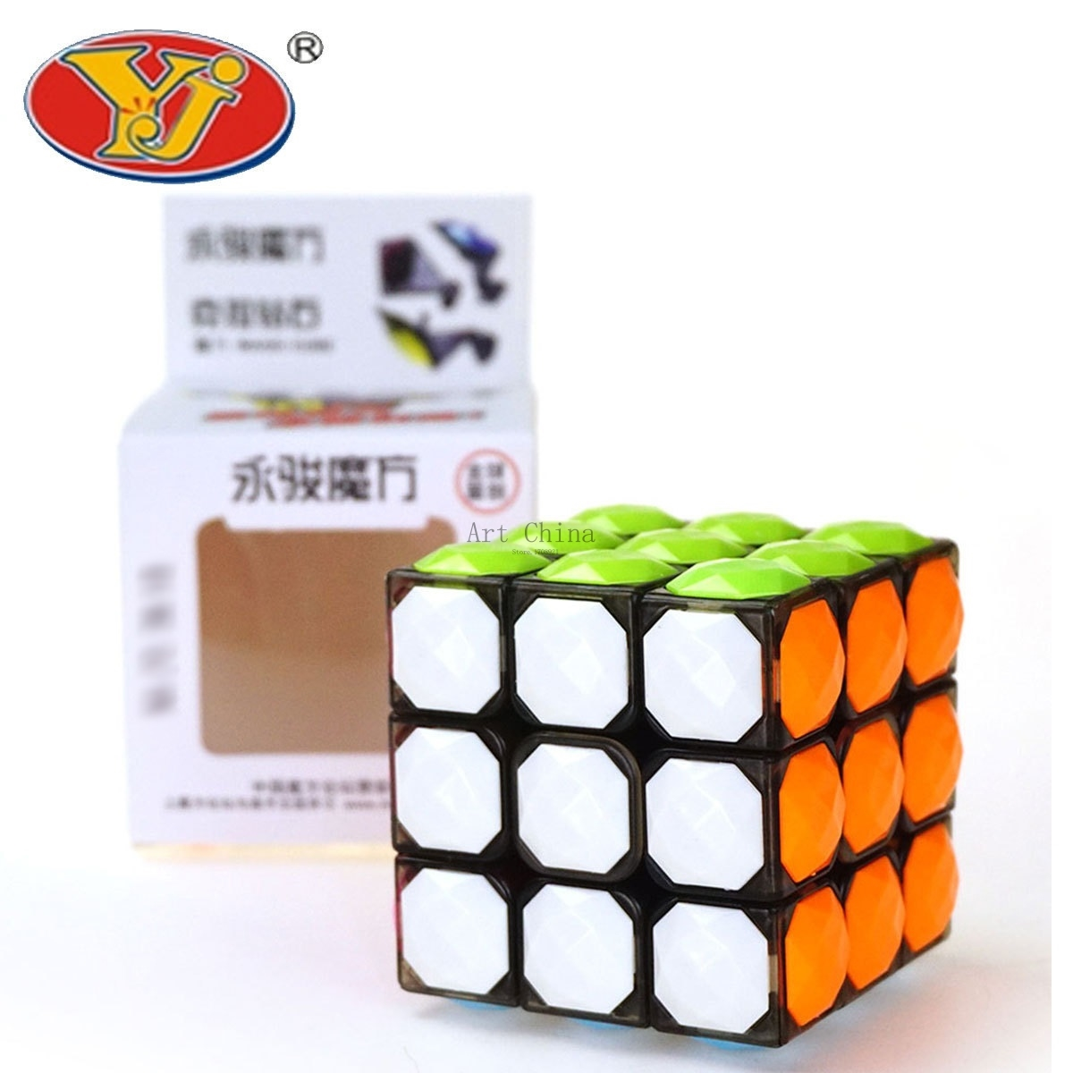 YJ Fidget Cube Professional Magic Cube 3x3x3 Puzzles Cube Kids Gifts Magic Speed Cubes Educational Toy