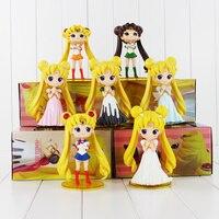 Sailor Moon Figures Tsukino Usagi 20th Anniversary PVC Action Anime Cartoon ZERO Pretty Guardian Collectible Toy