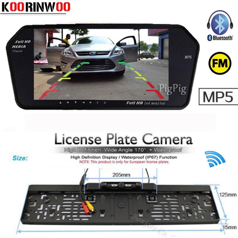 KOORINWOO Drahtlose EU nummernschild Rahmen Kamera 4 IR FM Display 7 ...