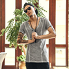 Summer MenBrand Designer T Shirt Cotton Short Sleeved Casual T Shirt Men S Clothing V Neck