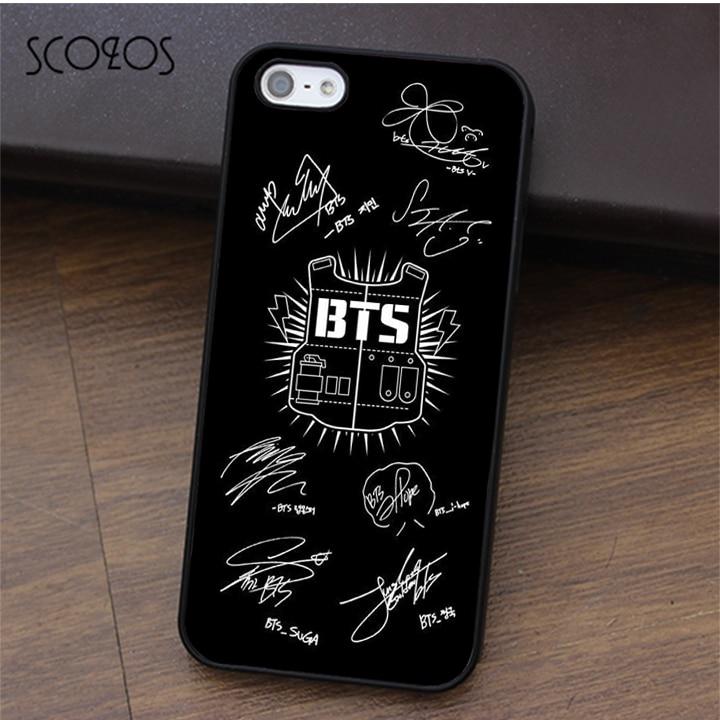Scozos Bangtan Boys Bts Signature Fashion Phone Case Cover For Iphone X 4 4s 5 5s Se 5c 6 6s 7 8 6&6s Plus 7 Plus 8 Plus #ca102 Phone Bags & Cases