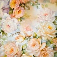 Fondo de fotografía Floral vintage flores de acuarela fondo de fotografía para recién nacido Niño estudio foto telones de fondo D-1638