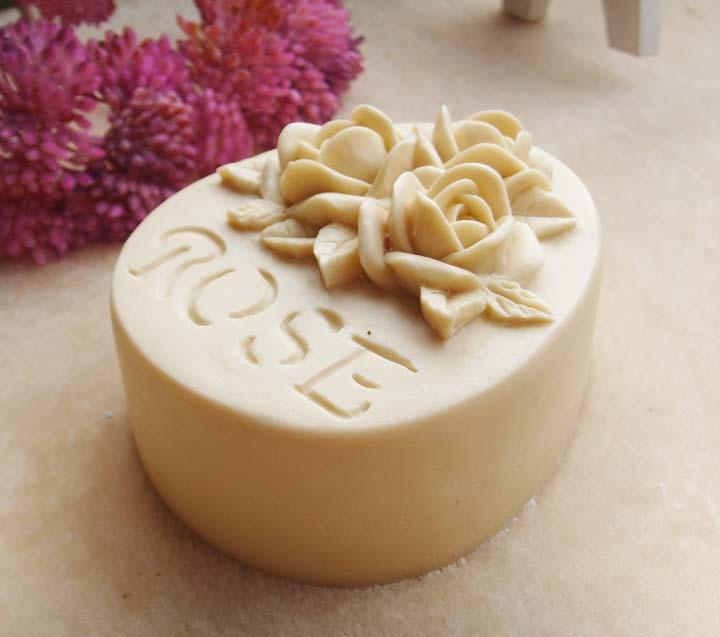 gėlių modelis rankų darbo muilo formų rožių gėlių muilas - Virtuvė, valgomasis ir baras - Nuotrauka 3