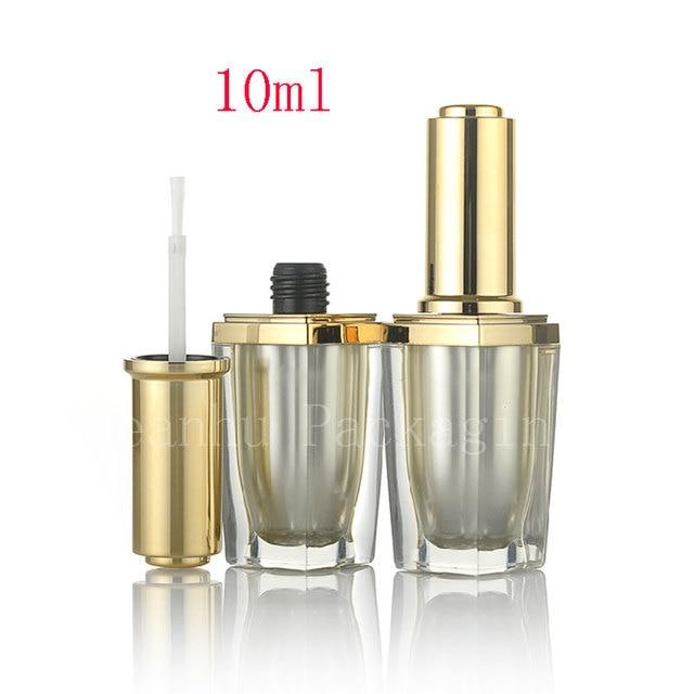 10ml high quality luxury nail polish acrylic bottles with brush 10cc ...