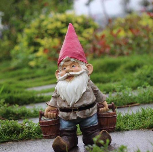 Garden Gnome Figure, Gnome Statue, Gnome Garden Decor