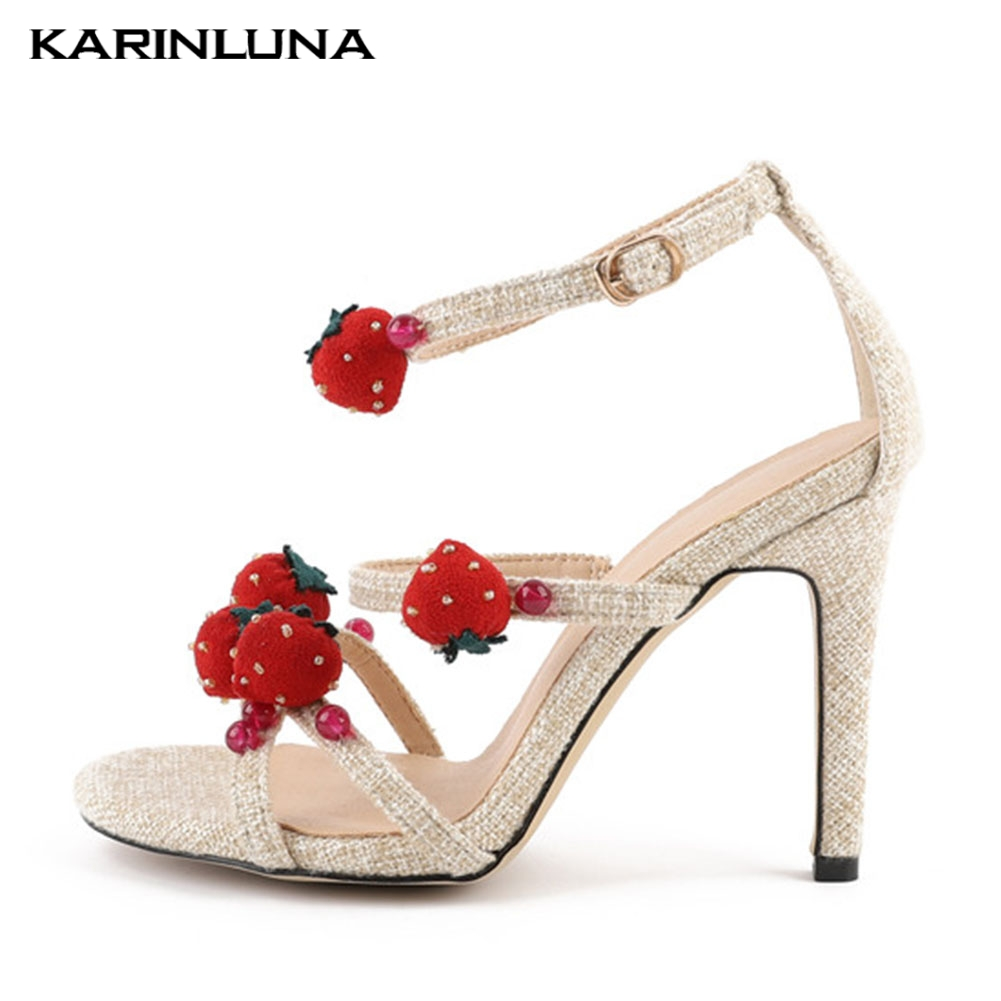 Fashion Sexy Wedding Sweet Strawberry Ladies High Heels Shoes Woman Casual Party Sexy Summer Sandals 2019Fashion Sexy Wedding Sweet Strawberry Ladies High Heels Shoes Woman Casual Party Sexy Summer Sandals 2019