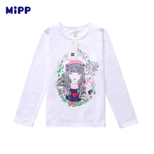 цены на Brand MIPP Girls Clothing Kids T-shirt Girls Clothes Illustration Girl T Shirt Long Sleeve Tops&Tees Children T Shirts for Girl   в интернет-магазинах