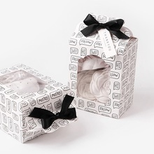 12.5*6.7*9.8cm 10 Pcs fun words Paper Box Wedding favor Christmas decoration Birthday Cookie Candy Chocolate Macaron packing