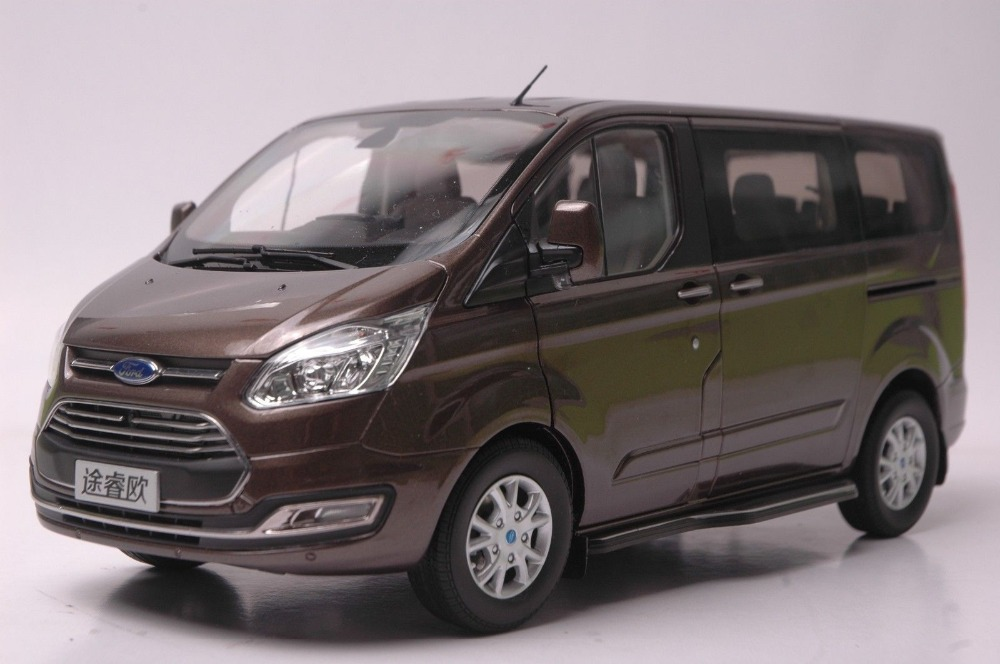 1:18 Diecast Model for Ford Tourneo 2015 Brown MPV Alloy Toy Car Collection Gifts Van футболка toy machine leopard brown