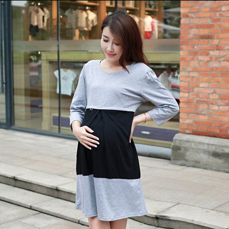 गर्भवती महिलाओं के लिए मातृत्व कपड़े मातृत्व कपड़े शरद ऋतु मातृत्व कपड़े गर्भवती महिलाओं के लिए पोशाक enceinte 156