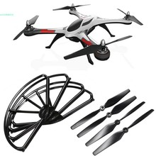 New Black Plastic 8pcs Propeller Prop CW/CCW and Guard Protector For X350 4CH 6-Axis Quadcopter RC 66