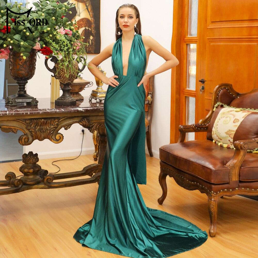 Missord 2020 Sexy Deep V  Sleeveless Backless  Maxi Elegant Dress FT5035-2