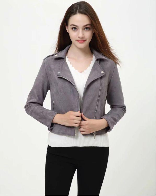 HCBLESS 2018 Autumn New women short suede jacket classic handsome women's jacket