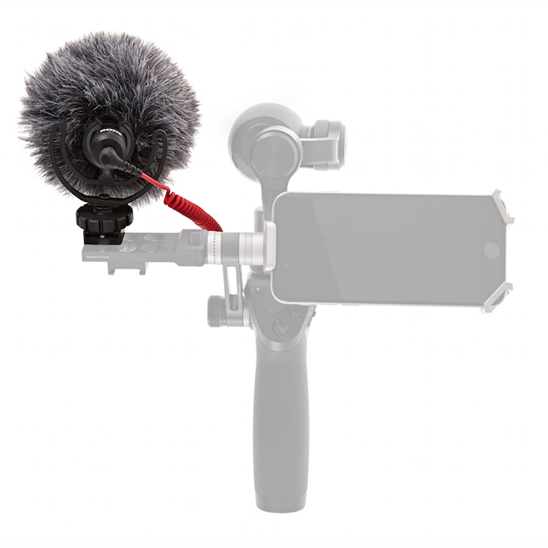 Original DJI Osmo Parts Osmo – Quick Release 360 Degree Mic Mount & RODE VideoMicro
