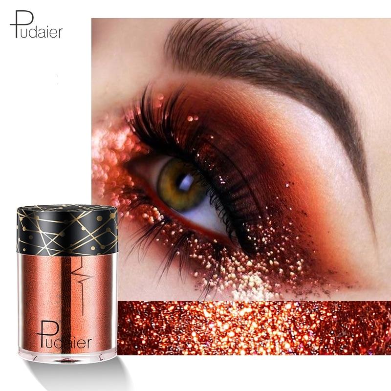 Rapture Pudaier Glitter Maquiagem Shining Eyeshadow Shimmer Glitter Makeup High Pigment Powder Glitters Sequined Eye Shadow Cosmetics Beauty Essentials