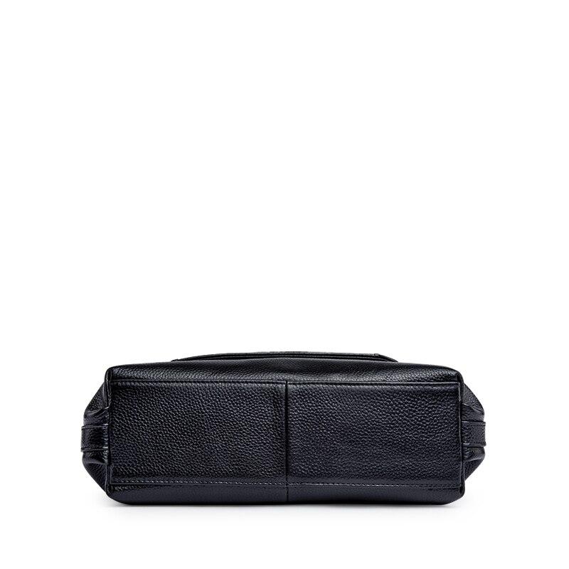ZOOLER Mode Elegant Lederen vrouwen Handtassen Dames Schoudertassen Zwart Koe Lederen Zachte Crossbody Tas tote # L120 - 5