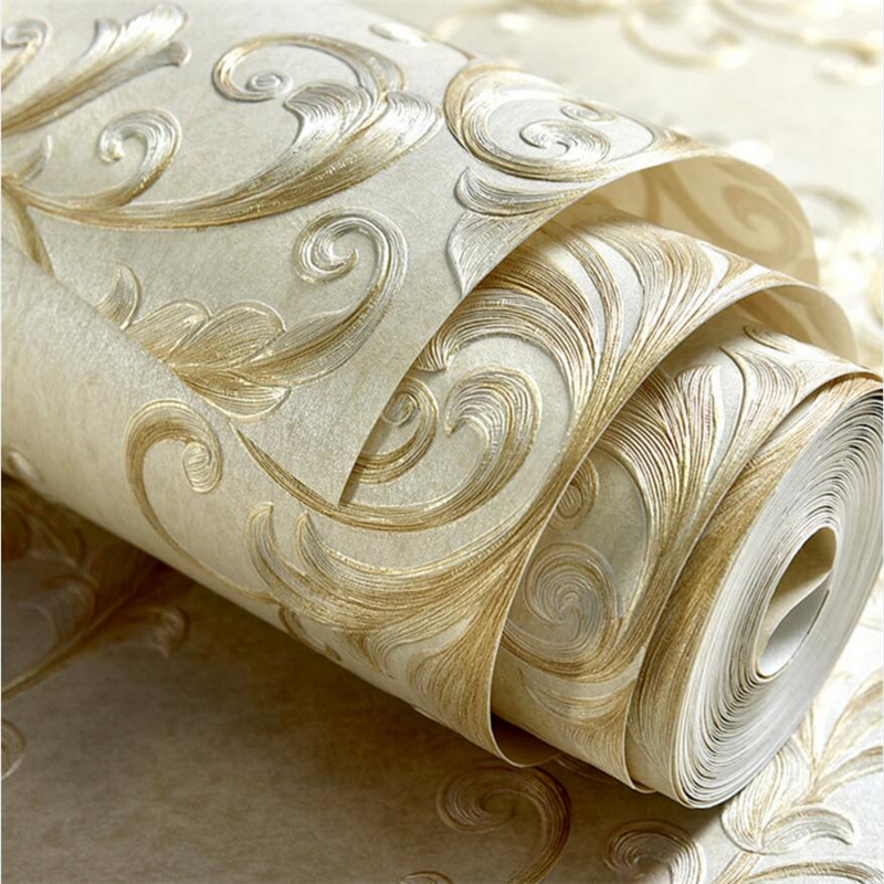 beibehang 3d non-woven fabric wallpaper living room bedroom TV background wall paper living room AB section thickening