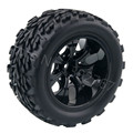 4Piece/Lot RC Car Rubber Sponge Tires Tyre Rim Wheel For RC 1/10 Scale Models Racing RC Car HSP Off Road Monster Truck
