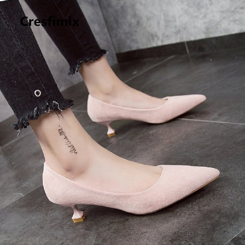 31d8b6327c2 US $9.79 |Women Fashion Sweet Spring & Summer Slip on Comfortable High Heel  Pumps Lady Casual Stylish Yellow Office High Heel Shoes E2375-in Women's ...