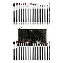 19PCS Colorful Pro Makeup Brushes Set Powder Foundation Eyeshadow Brush Tools With Storage Bag(China)
