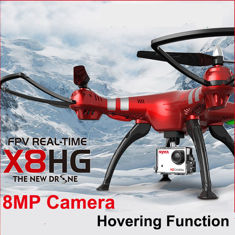SYMA X8HG RC Drone With 8.0MP 1080P HD Camera 2.4G 4CH 6-Axis RC Helicopter Quadcopter Ar.Drone