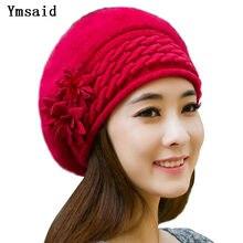 8f5a2a38a28 Ymsaid Beanies Women Fur Winter Hats Beret Girl Knitted Autumn Hats For  Women Bonnet Brand Rabbit hair Ladies Warm Skullies Hat