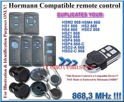 Hormann 868mhz universal remote control replacement free shipping.jpg 250x250