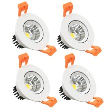 Dimmable LED COB Downlight AC110V 220V 5W/7W/10W/12W Recessed LED Spot Light lumination Indoor Decoration Ceiling Lamp