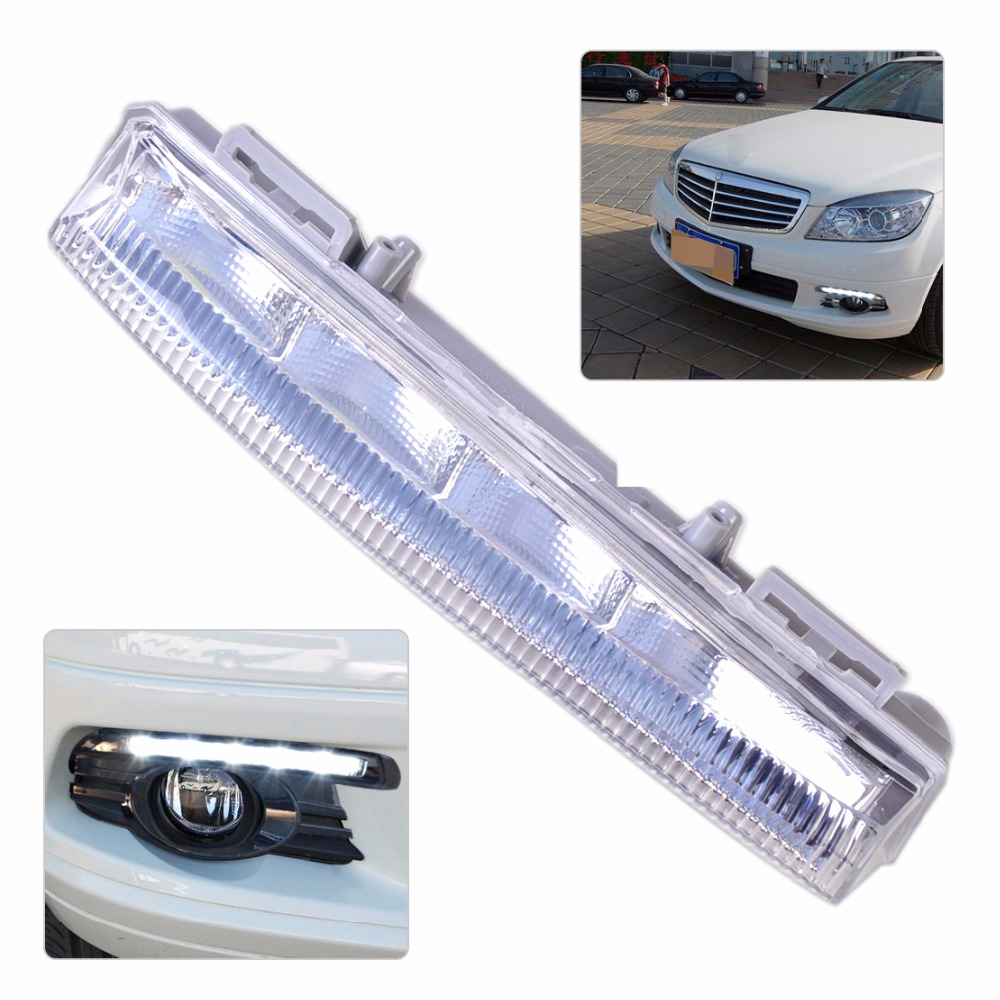 DWCX Right Side Fog Light Lamp DRL 2049069000 204 906 90 00 A204 906 90 00 for Mercedes Benz W204 W212 S204 R172 2011 2012 2013 front fog light for mercedes benz w163 ml270 ml230 ml320 ml400 ml350 ml500 ml430 ml55